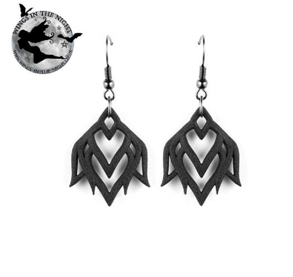 The Rogue + The Wolf Lotus Awakens Gothic Black Earrings